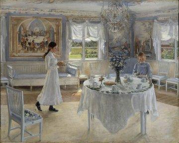 """Reprodukcja obrazu """"Imieniny""""(1902) Fanny Brate (1862-1940). Źródło: Wikimedia"""