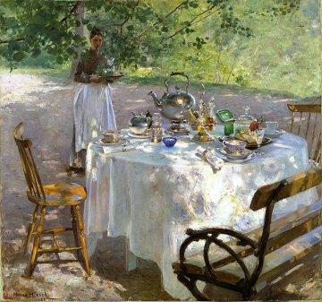 Reprodukcja obrazu 'Pora śniadania' (1887) Hanny Pauli (1864-1940). Źródło: Wikimedia